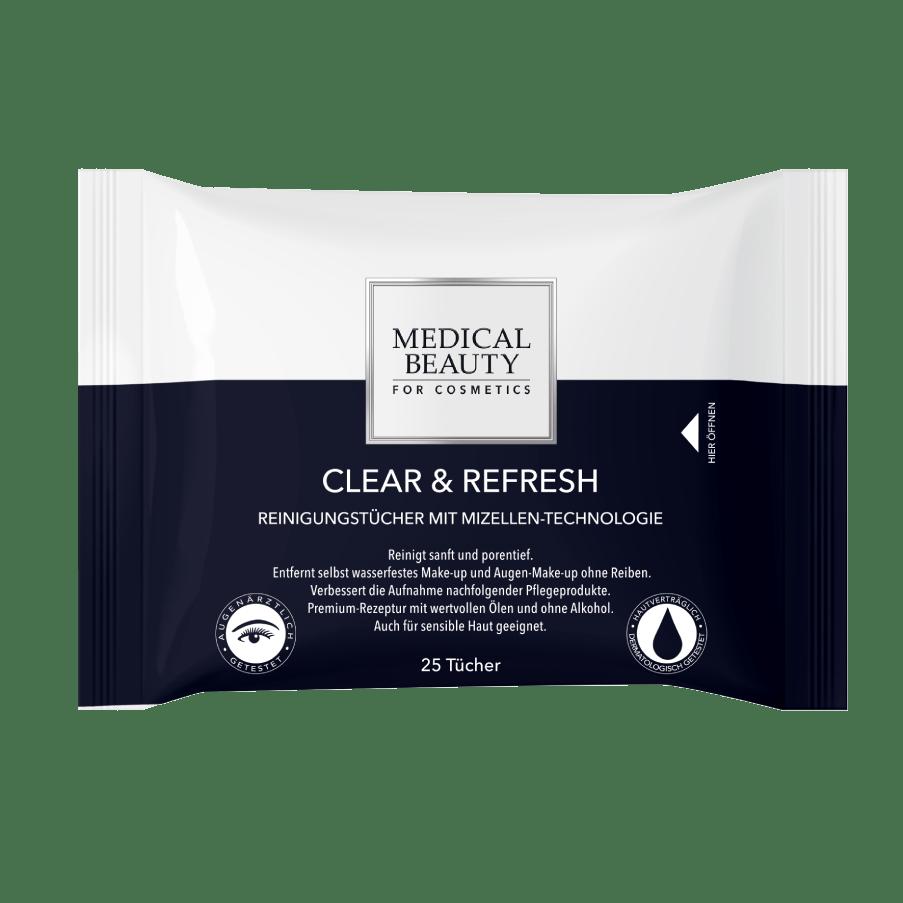 Vorschaubild Medical Beauty Clear & Refresh Reinigungstücher Verpackung