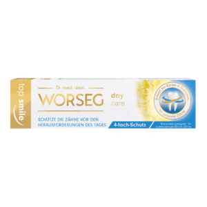 Dr. Worseg Top Smile Day Care Zahncreme Verpackung