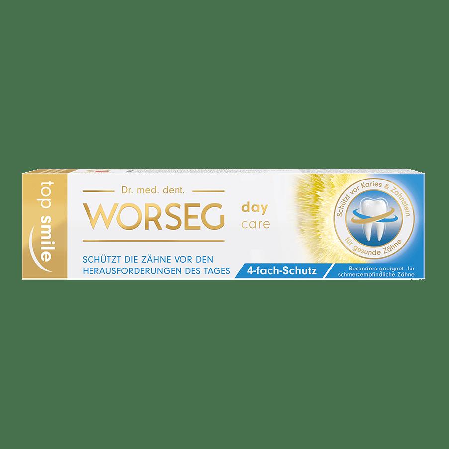 Vorschaubild Dr. Worseg Top Smile Day Care Zahncreme Verpackung