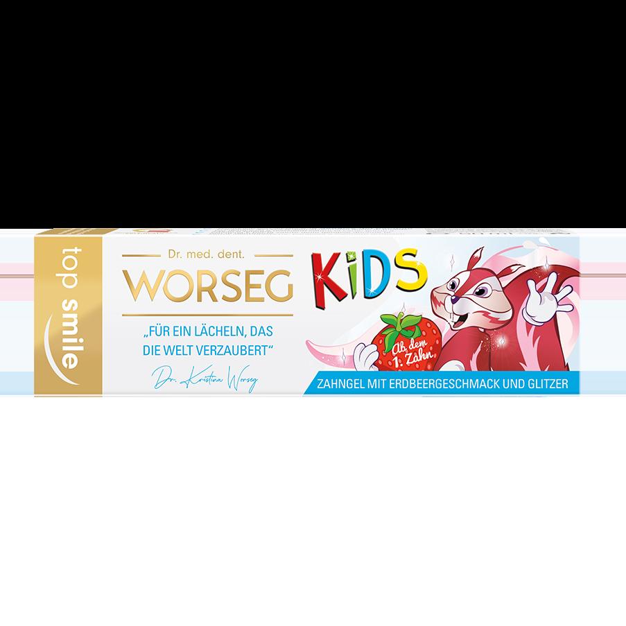 Vorschaubild Dr. Worseg Top Smile Kids Zahncreme Verpackung
