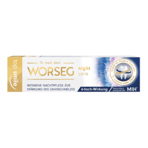 Dr. Worseg Top Smile Night Care Zahncreme Verpackung