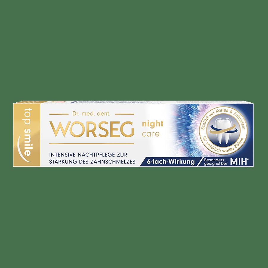 Vorschaubild Dr. Worseg Top Smile Night Care Zahncreme Verpackung