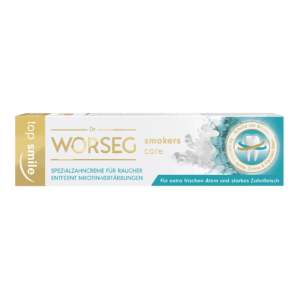 Dr. Worseg Top Smile Smokers Care Zahncreme Verpackung